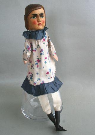Kasper - Puppe Großmutter,  Geschnitzter Holzkopf,  Alte Handpuppe,  Puppenspiel, Bild