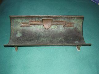 Alte Schreibtischablage In Bronze Bild