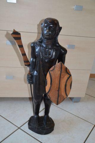 Masai Figur Aus Afrika / Afrikanische Holzfigur Bild