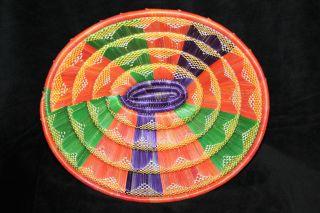 Äthiopien Korb Bunt,  Schale,  Tischdeko Handarbeit.  Basket From Ethiopia Handmade Bild