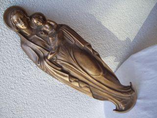 Alte Schöne Schwere Bronze - Figur Gemarktet Mit Made In Germany Unbeschädigt Bild