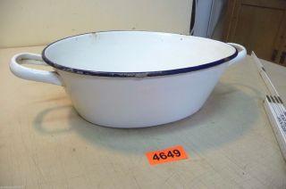 Nr.  4649.  Alter Emailleschüssel Email Schüssel Old Enamelware Bowl Bild