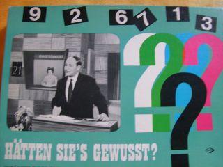 Noris 611 / 2540 Wissensspiel Fragespiel Denkspiel Hätten Sie Es Gewusst ? Bild