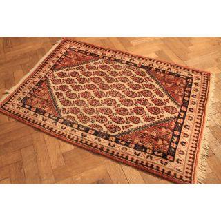Alter Handgeknüpfter Orient Teppich Sa Rug Bote Old Rug Carpet Tappeto 155x110cm Bild