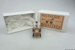 Epoche Nostalgie Miniaturen Nr.  1 1907 Miniaturauto 4cm Holz 067 Modellbau S4817 Bild