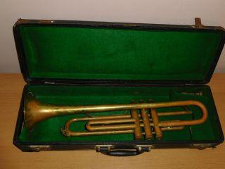 Alte Kühnl & Hoyer K&h Trompete Mit Koffer U.  Mundstück Herstellernr.  9783 Bild