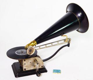 FrÜhes Columbia Schwenkstab Grammophon Gramophon Model Au 1904 Bild