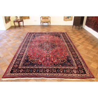 Signierter Orient Palast Perser Teppich Blumen Jugendstilmotiv Carpet 205x300cm Bild