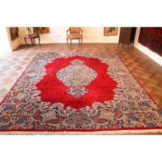 Prachtvoll Handgeknüpft Orient Palast Perser Teppich Laver Kum Carpet 350x250cm Bild