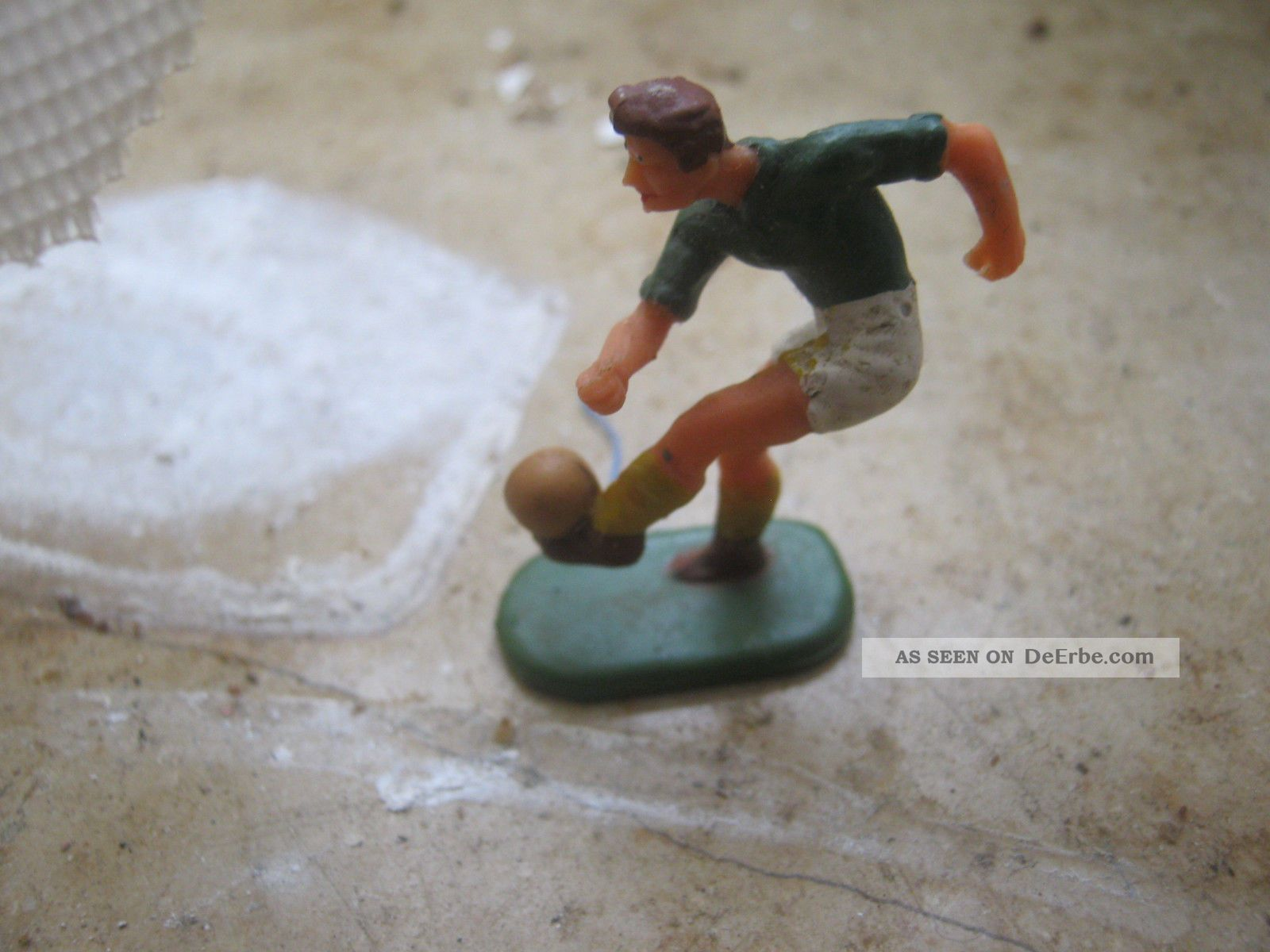 Spiel 4 - 0530 Elastolin 4cm Seltene Spielfigur Fußballer 60iger Jahre Gefertigt nach 1945 Bild