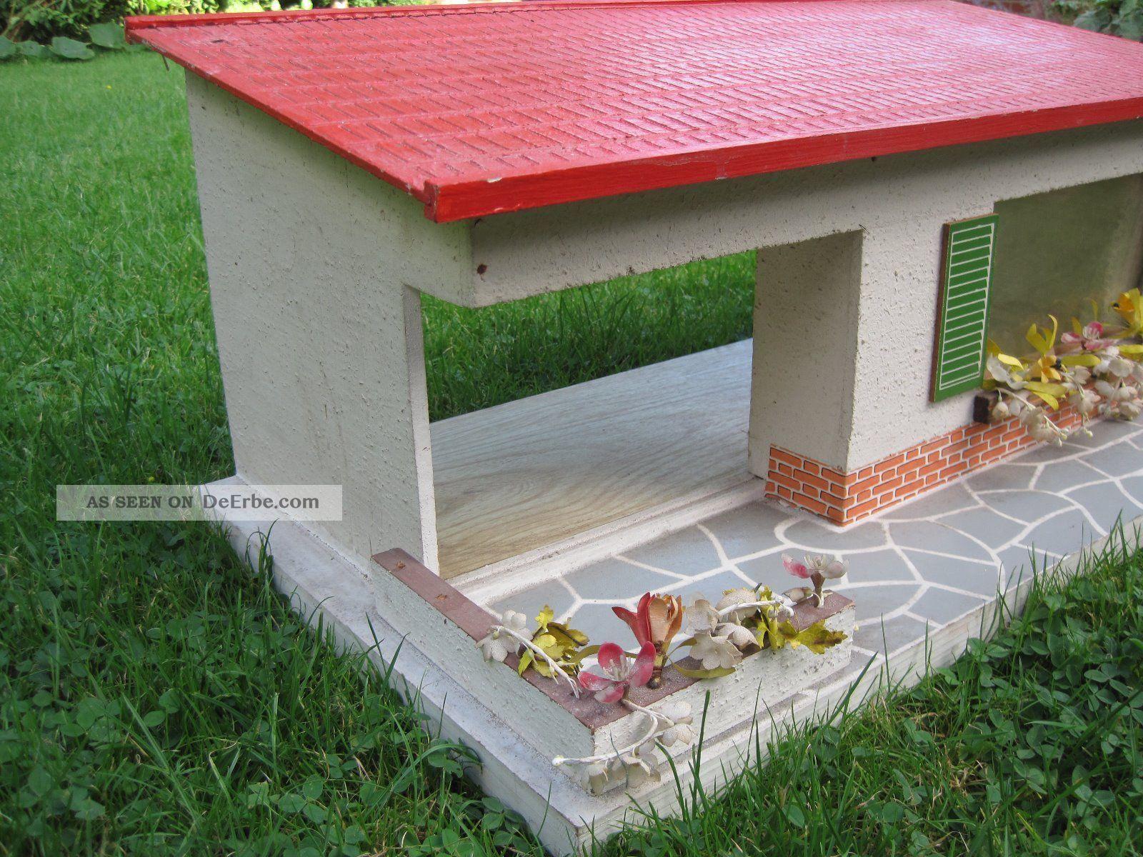 puppenstube puppenhaus bungalow ddr 50er 60er. Black Bedroom Furniture Sets. Home Design Ideas