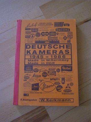 Buch: Deutsche Kameras 1945 - 1986 Von W.  Kerkmann Bild