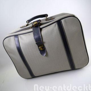 Reise Koffer Tasche Karo Kariert Oldtimer 50er 60er Stoff Vintage Schlüssel 1260 Bild