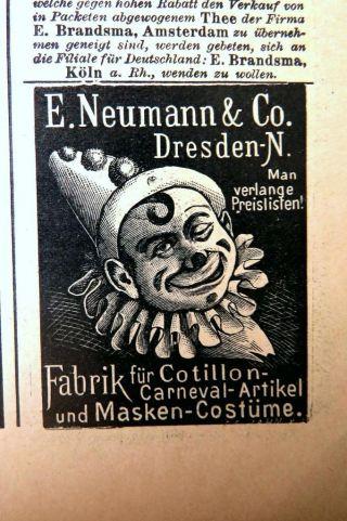 Der Bazar 3/1898 Damen Mode Zeitschrift Riesige Schnittmuster KostÜmbildner Rar Bild