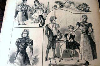 Der Bazar 47/1897 Damen Mode Zeitschrift Riesige Schnittmuster KostÜmbildner Rar Bild