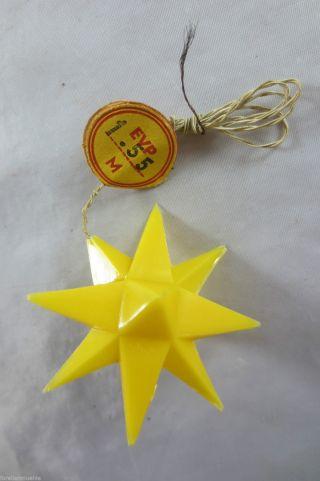 Seltener Alter Adventsstern Weihnachtsstern Gelb Vintage Lamp Um 1960 Bild