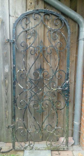 Gartentür Schmiedeeisen Antik Bild