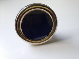 Bilderrahmen Silber 800er,  Rund Bild