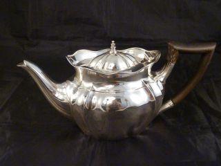 Schwere,  Alte Teekanne - England - William Hutton - 1901 - 925er Sterling Silber Bild