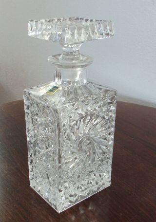 Whisky Whiskey Kristall Karaffe Lausitzer Glas Handschliff Schwere Ausführung Bild