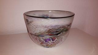 1 Große Glasschale - Aufwendig Verziert - 22 X 16 Cm - Schöne Deko Bild