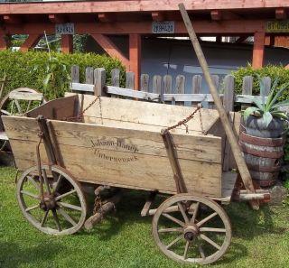 Antiker Kastenwagen - Handwagen - Holz - Heuwagen - Bremsvorrichtung - Zerlegbar 190cm Bild