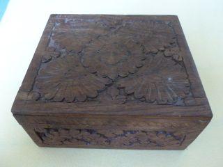 Altes Holzkästchen Schmuckkästchen Holz Schatulle Bild