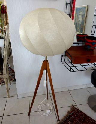 Vintage Cocoon Stehlampe Leuchte Floor Lamp Design Castiglioni Ära 60er 50er 60s Bild