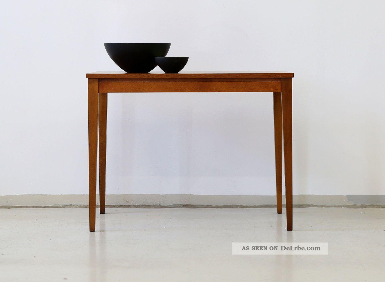 60er Teak Couchtisch Beistelltisch Danish 60s Side Table Vintage Midcentury 1960-1969 Bild