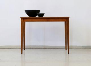 60er Teak Couchtisch Beistelltisch Danish 60s Side Table Vintage Midcentury Bild