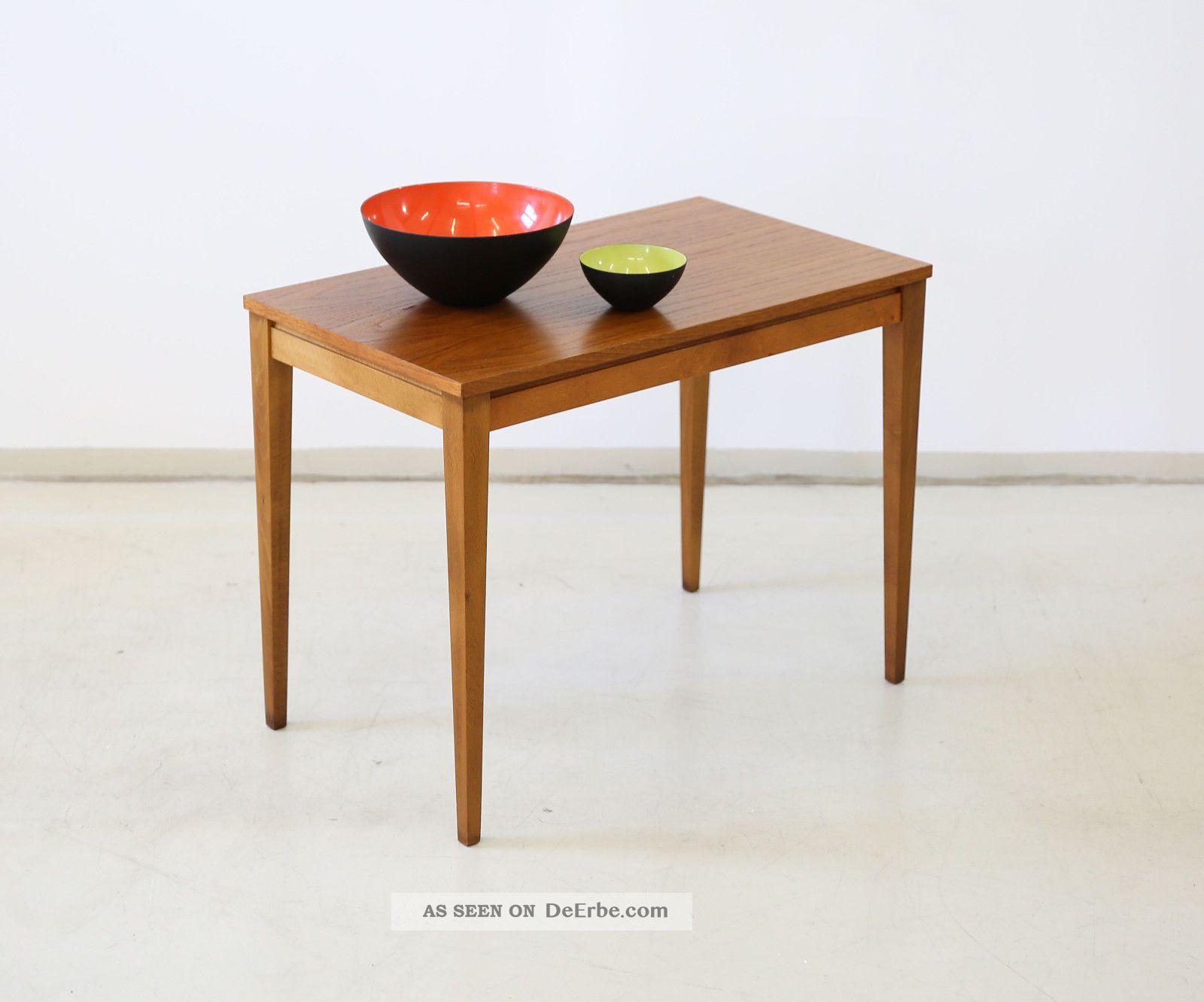 60er teak couchtisch beistelltisch danish 60s side table for Beistelltisch retro