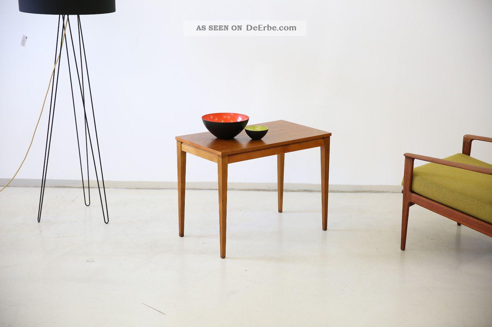 60er teak couchtisch beistelltisch danish 60s side table for Couchtisch 60er