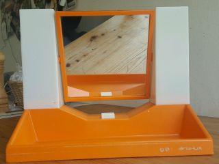 Spiegel,  60er Jahre,  Schminkspiegel Mit Lampen,  Orange,  Vintage,  Shg Chèrie - Lux Bild
