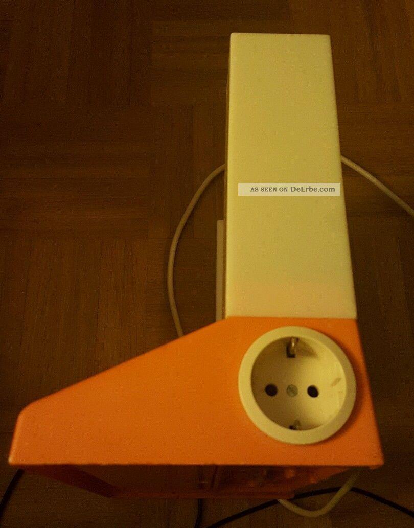 spiegel 60er jahre schminkspiegel mit lampen orange. Black Bedroom Furniture Sets. Home Design Ideas