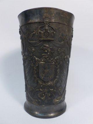 Zinnbecher Pickel Haube Helm Kaiser Friedrich Zinn Antik Becher Kaieserreich Bild