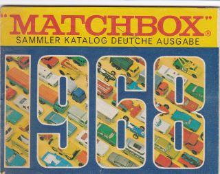 Matchbox Sammler Katalog Deutsche Ausgabe 1968 Bild