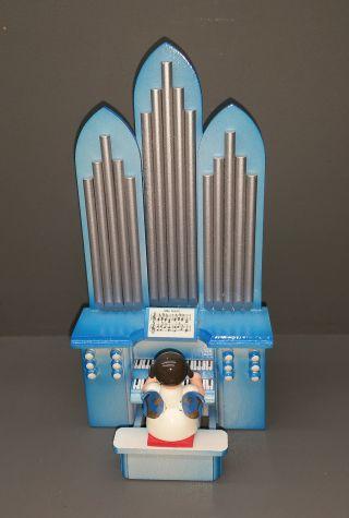 Engel An Der Orgel Mit Spielwerk Aus Dem Erzgebirge Bild