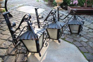 3x Auslieger Aussenlampe Lampe Shabby Chic Schmiedeeisern Gasthauslampe Bild