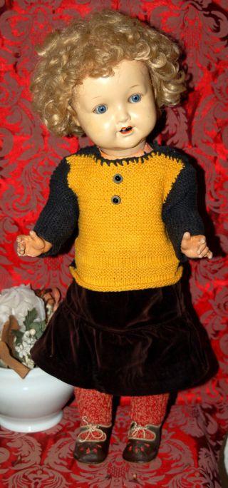 Armand Marseille Mädchenpuppe - Puppe Mit Spritzporzellankopf - A.  M.  2966 5/10 Bild