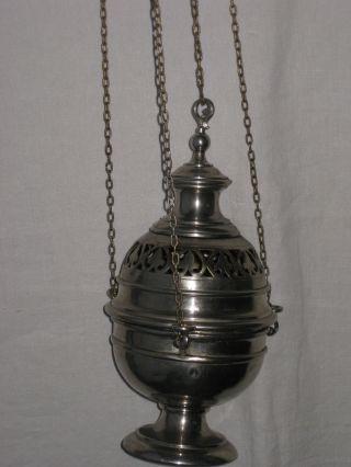 Rauchfass Mit SchÖnem Ornament Weihrauchschwenker 19.  Jahrhundert Bild