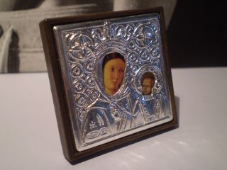 Kleine Reise Ikone Silberrahmen / 925er Sterling / Form Bild