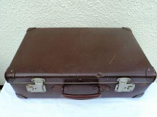 Alter Dunkelbrauner Koffer 55 Cm X 34 Cm X 17 Cm Ideal Für Oldtimer/motorrad Bild