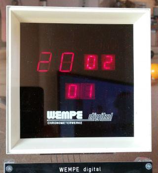 Wempe Schiffsuhr Led Digital 70er Jahre Bild