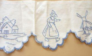 42 Cm Antike Schrankrüsche,  Regalborte,  Vorhang Für Blaue Puppenküche,  Holländer Bild