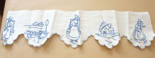 34 Cm Antike Schrankrüsche,  Regalborte,  Vorhang Für Blaue Puppenküche,  Holländer Bild