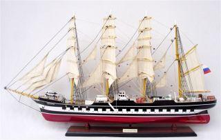 Handgefertigtes Schiffsmodell Kruzenshtern,  L90 Cm,  Modellschiff,  Modell,  Holz Bild