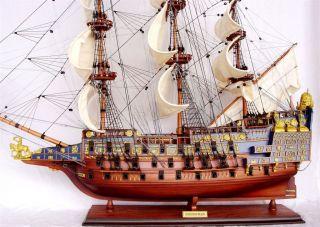 Schiffsmodell Sovereign Of The Seas,  60 Cm Handarbeit Fertig Montiert,  Bemalt Bild