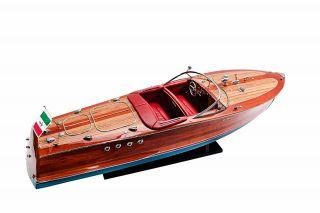 Schiffsmodell Nach Riva Triton Länge 87 Cm Aus Holz,  Aufwendige Handarbeit Bild