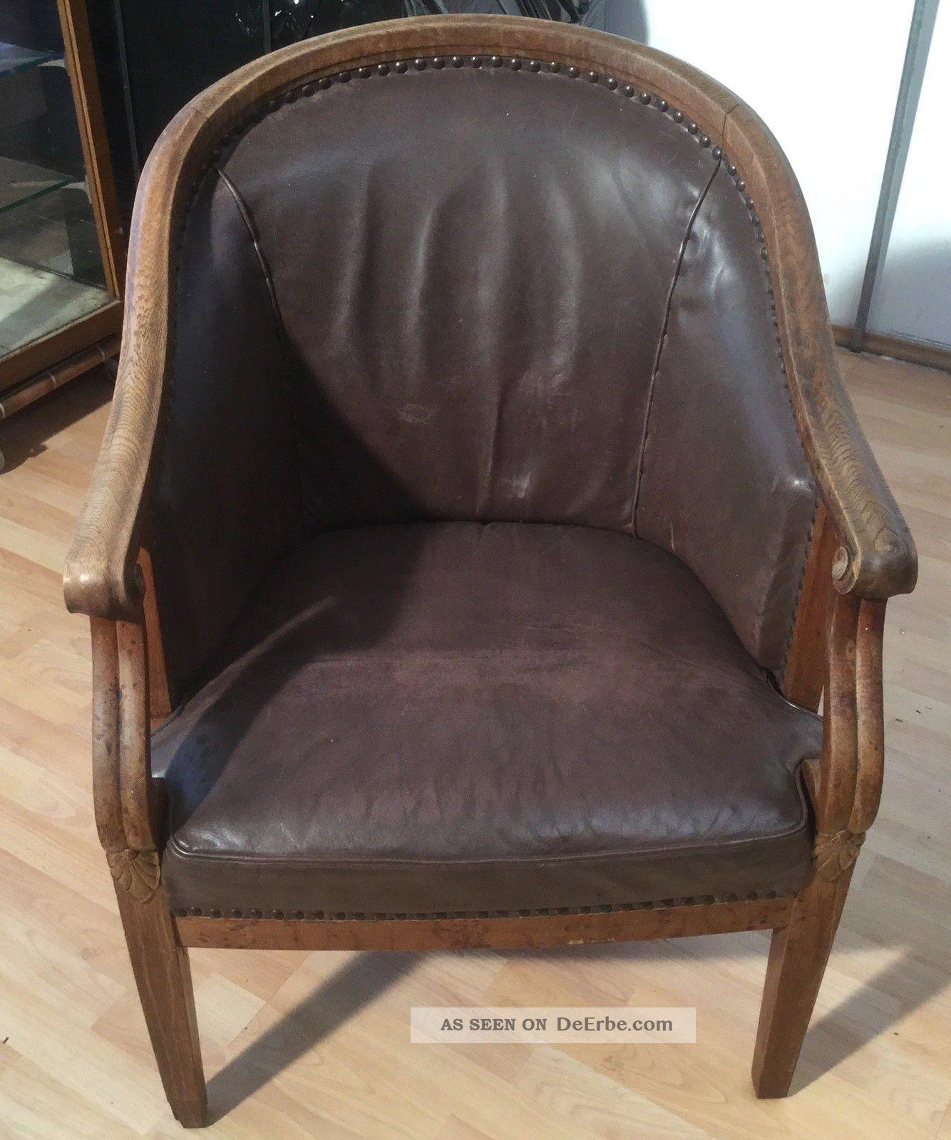 Ein wundersch nes sehr alt antiker leder sessel stuhl for Stuhl sessel leder