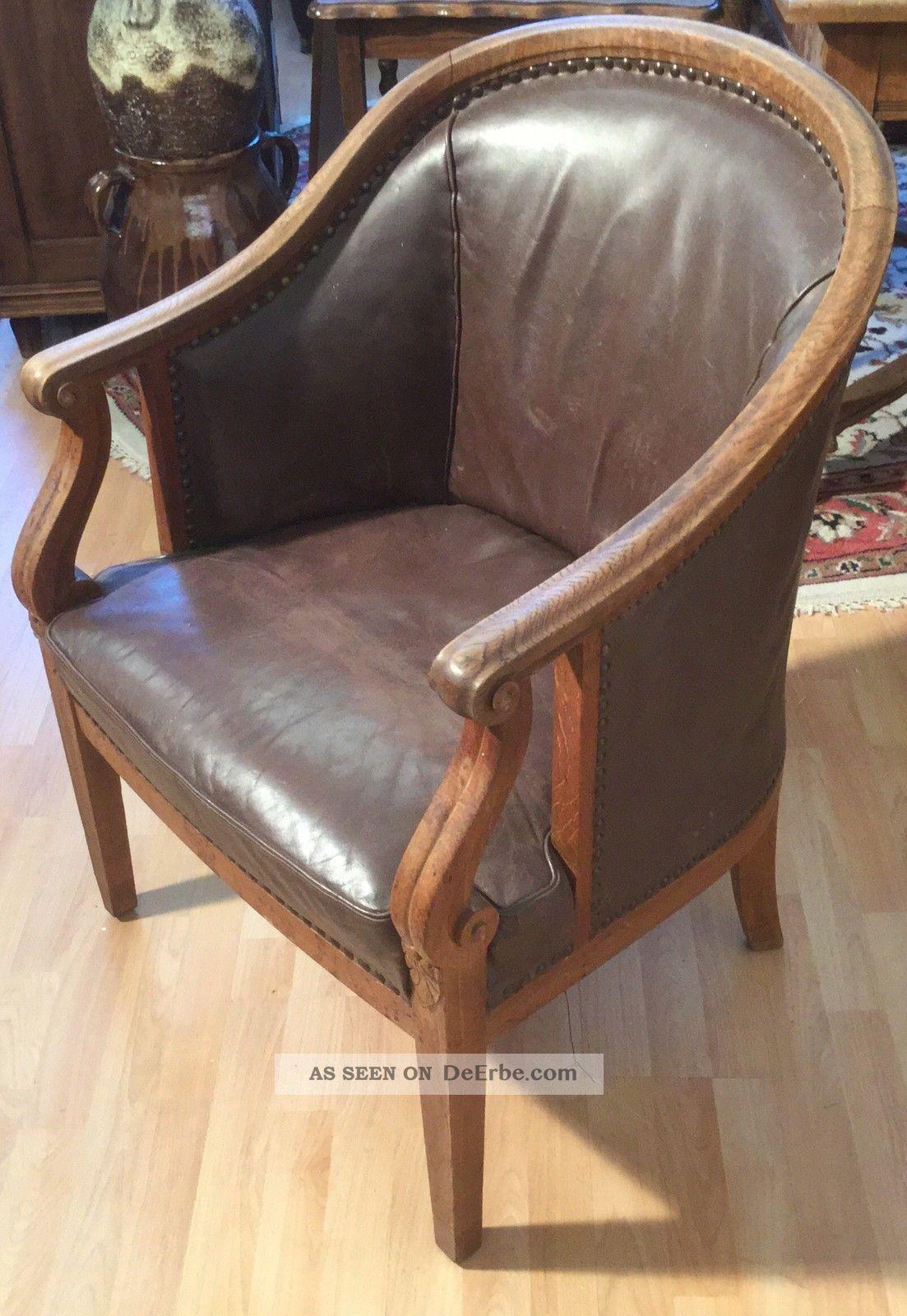 Ein wundersch nes sehr alt antiker leder sessel stuhl for Sessel stuhl